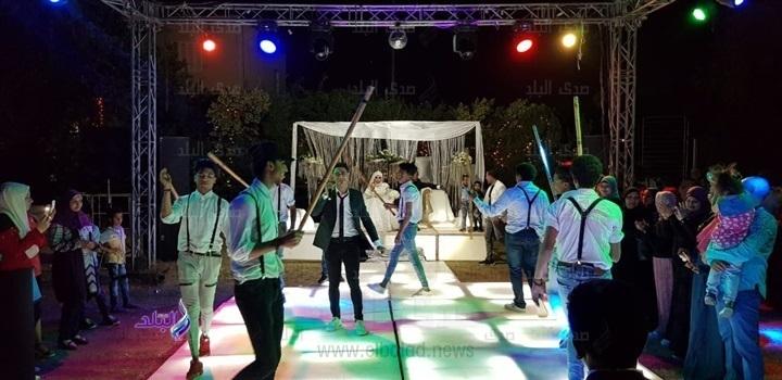 أحمد خالد يشعل حفل زفاف نوبي.. صور