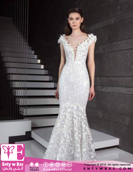 319e4496ebbec بالصور عروس 2019 أكثر أنوثة بمجموعة طوني ورد لفساتين الزفاف