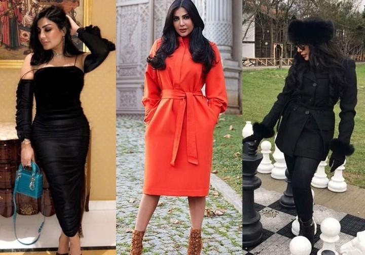 4cf030a8f91b8 ازياء أمل العوضي وحيل لإبراز قوامها الممشوق بالأزياء