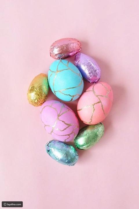 بيض ملوّن بألوان ملوكية زيّني بها منزلك في عيد الفصح 2019