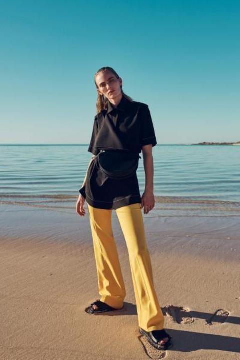 اللون الاصفر يتصدر مجموعات أزياء ريزورت 2020