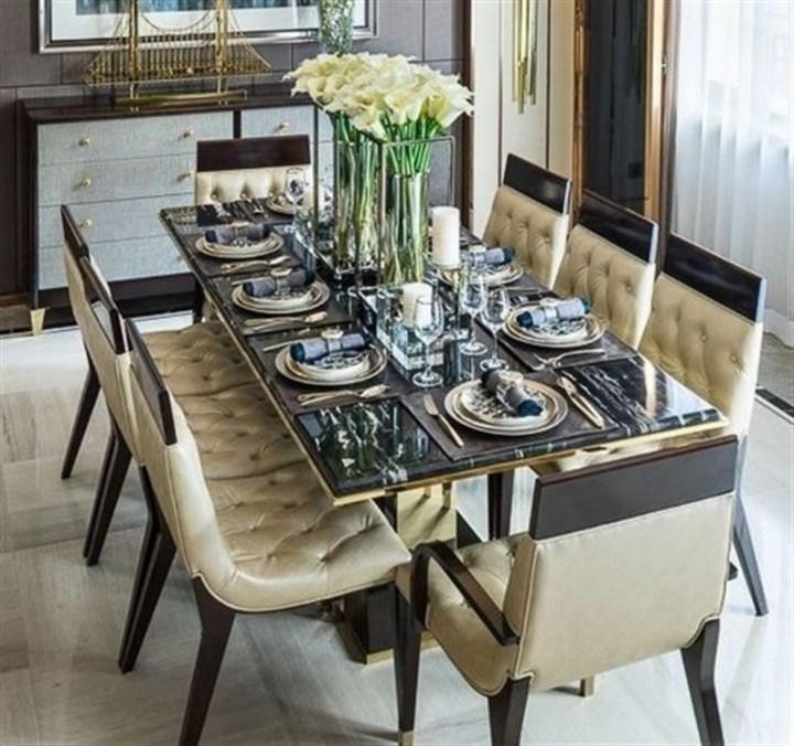 بالصور... ديكورات كلاسيكية ولا أروع لغرفة الطعام!