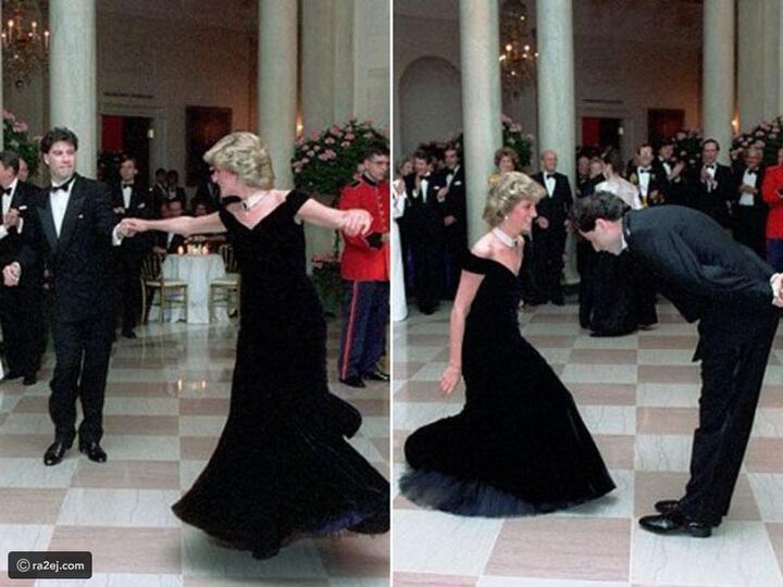 رقصت به مع جون ترافولتا: فستان شهر للأميرة ديانا للبيع في مزاد