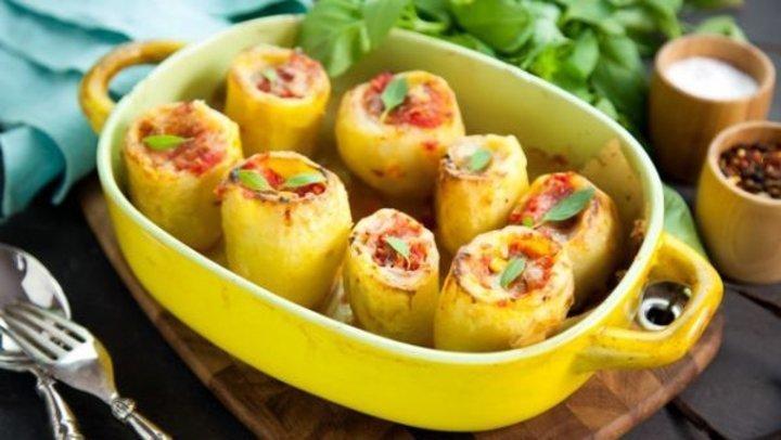 طريقة عمل البطاطس المحشية