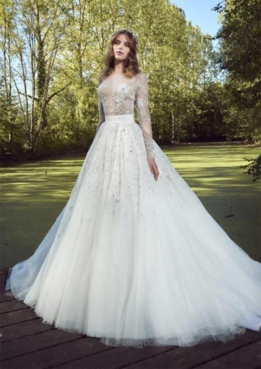 2a0894ade46ff فساتين زفاف منفوشة موضة 2019 بوحي من الأميرات