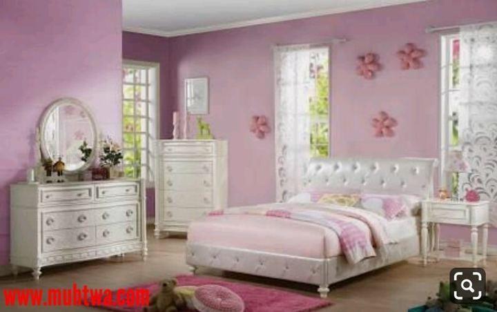 غرف نوم باللون الموف جديدة