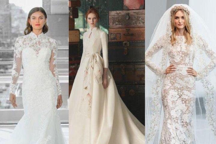 أجمل موديلات فساتين زفاف للمحجبات 2020