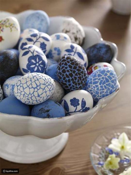 البيض الملون برسومات الربيع والورود لمنزلك في شم النسيم