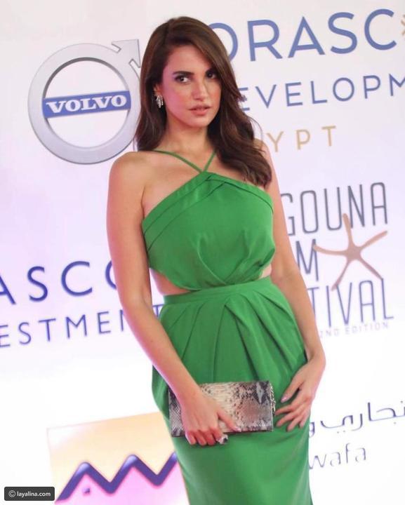 تعرفوا على سعر فستان درة الأخضر الذي خطف الأنظار في مهرجان الجونة
