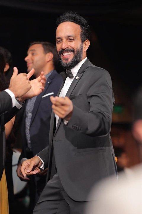رامي صبري يشعل زفاف مروان محسن بأغاني فارق معاك.. ويثني على أخلاقه الرياضية.. صور