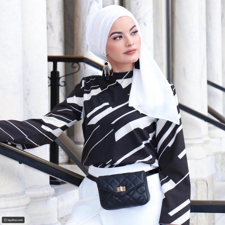 صور صيحات عصرية أنيقة للفات الحجاب في عيد الفطر على طريقة أمية زين