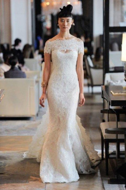 احدث تصاميم فساتين زفاف ضيقة فخمة للعروس موضة 2020