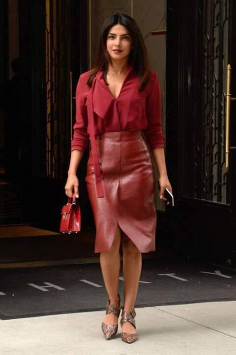 التنورة الجلدية الحمراء تنتقل من الملكة ليتيسيا إلى ميغان ماركل