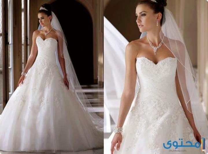 193c06657 أحدث فساتين زفاف رقيقة