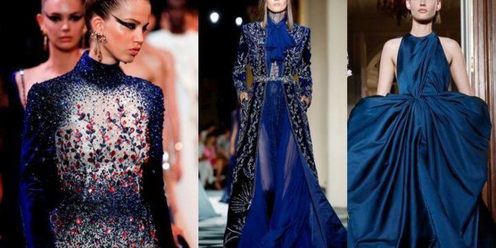 """الفساتين الزرقاء لحفل خطوبة مبهر، تعرفي عليها بالصور مع """"زفافي"""""""