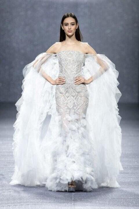أجمل فساتين زفاف من أسبوع شنغهاي للموضة
