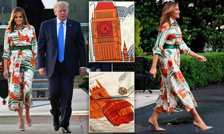 لماذا لا تتخلى ميلانيا ترامب عن هذا الفستان في جميع رحلات السفر