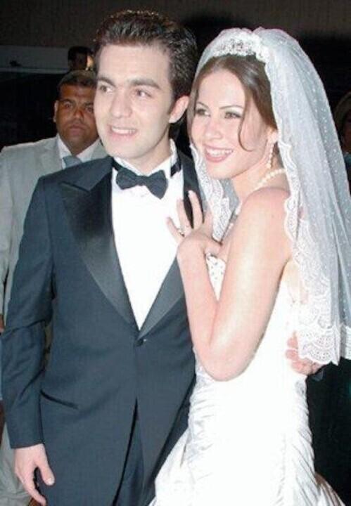 فساتين زفاف بنات حسين فهمي ومصطفى فهمي