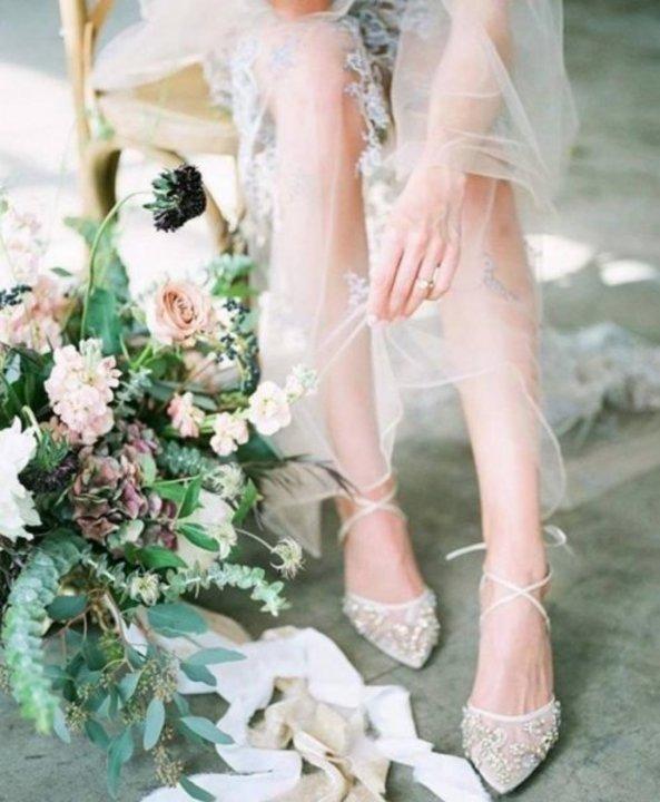 احدث موديلات احذية العروس 2019