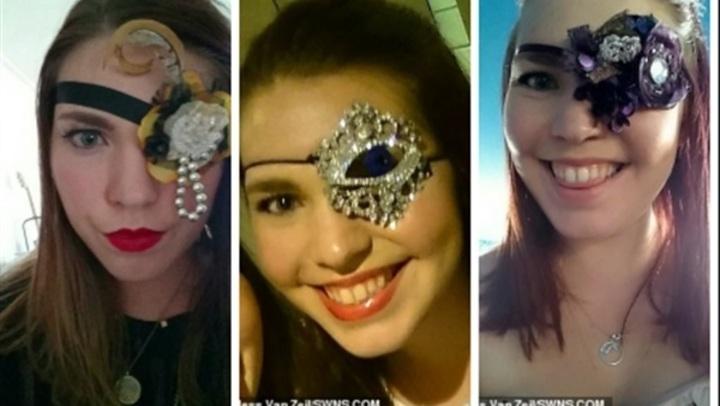 فتاة تفقد عينها بسبب السرطان وتلجأ لحيلة ذكية لاستكمال حياتها