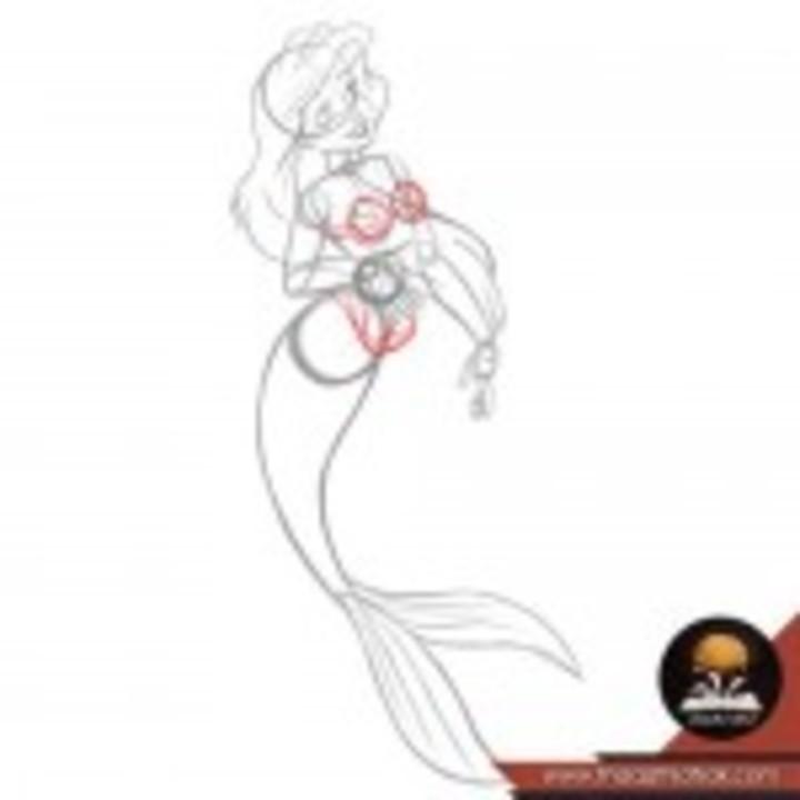 كيف ترسم اريل حورية البحر الصغيرة