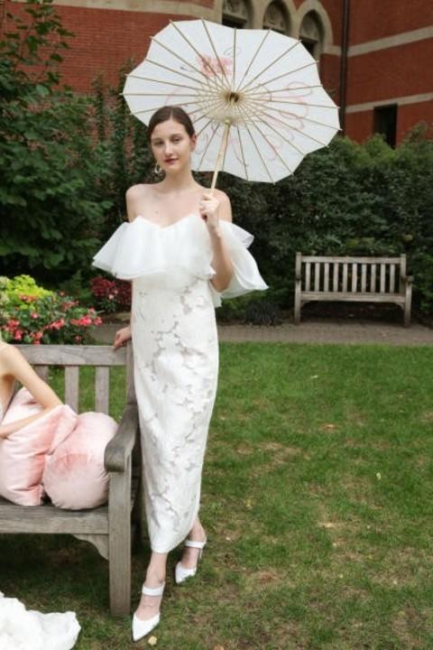 فساتين زفاف 2019 ناعمة بقصة عمودية تخفي عيوب الجسم