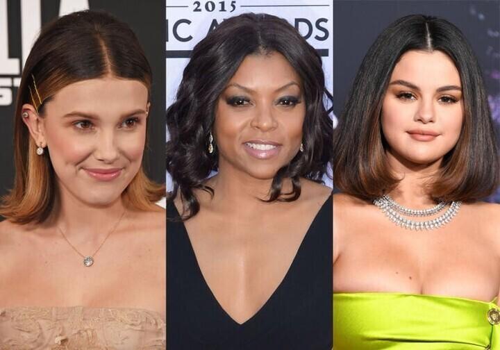 تسريحات شعر النجمات متوسط الطول لسهرات شتاء 2020