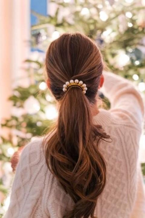 اللؤلؤ زينة العيد لتسريحات الشعر