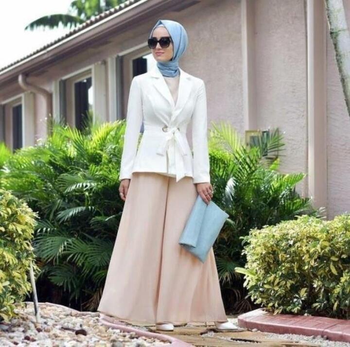 تنسيق البدلات الرسمية مع الحجاب من وحي الفاشينيستا
