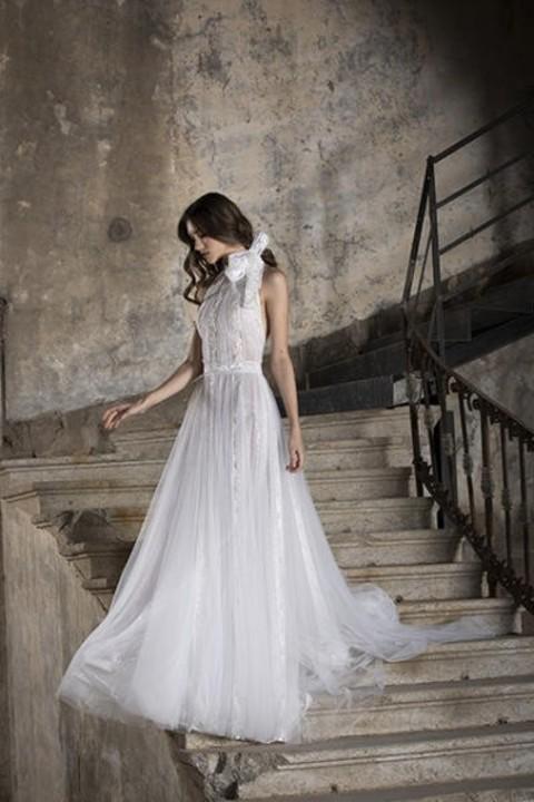 فساتين زفاف بدون أكمام موضة 2020