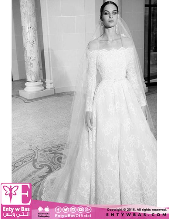 4501568bf808f بالصور.. مجموعة فساتين زفاف إيلى صعب لخريف ٢٠١٩