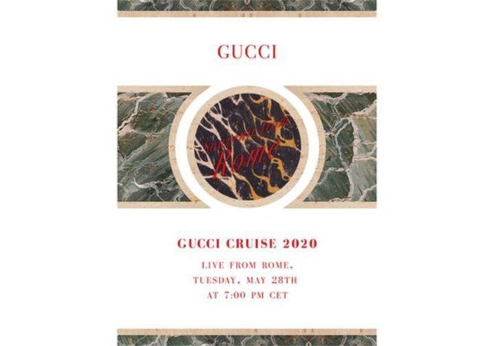 تابعي عرض غوتشي كروز 2020 مباشرة من روما