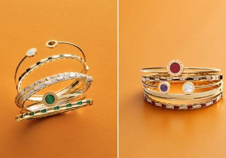 إمزجي أجمل مجوهرات بولغري مع بعضها البعض ونسّقيها في إطلالة واحدة