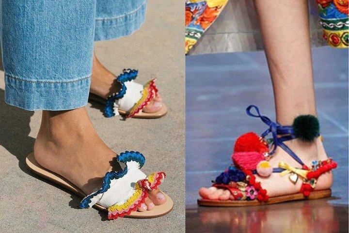 أحذية ملونة موضة هذا الصيف