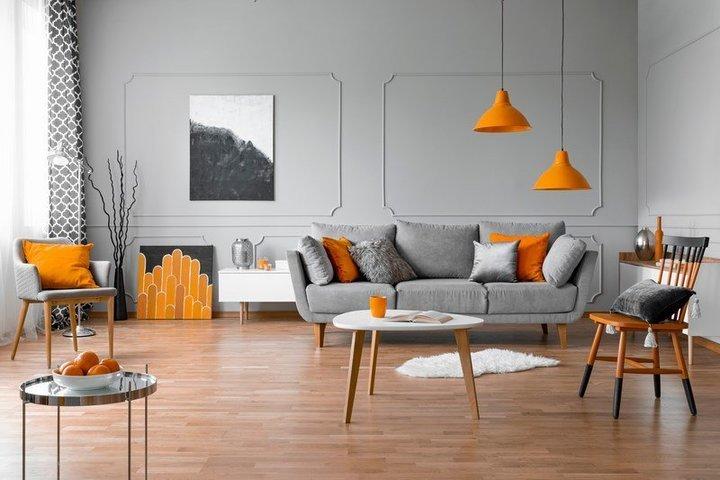 البرتقالي في ديكورات البيت