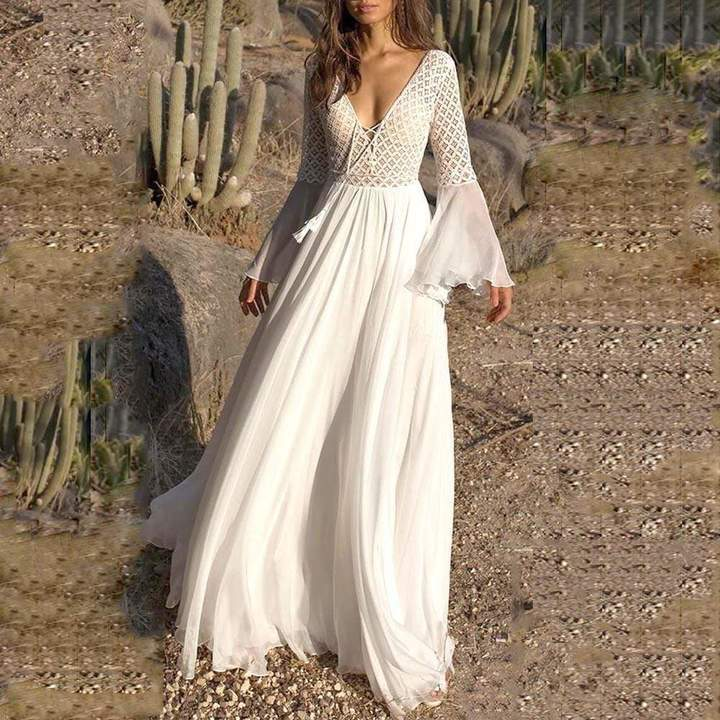 الفستان الأبيض قطعة أساسية في خزانتك الصيفية