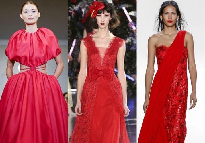 9ffb9b1f7e078 اجمل فساتين حمراء لسهرة يوم الحب من اسبوع الموضة بنيويورك