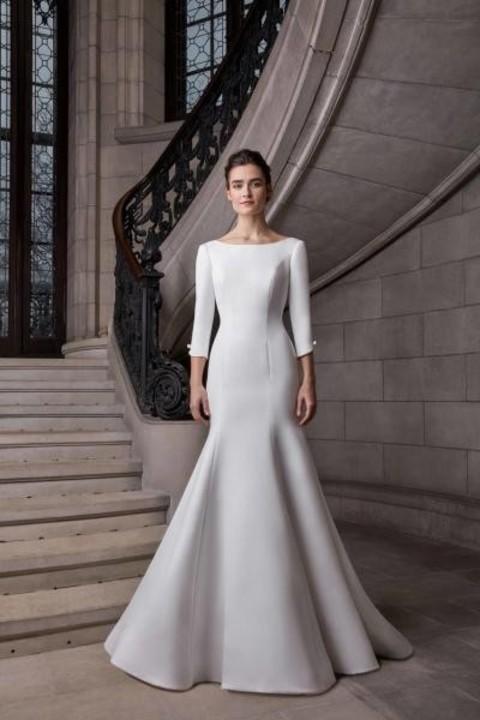 فساتين زفاف كم طويل موضة ربيع 2020 لعروس عيد الفطر