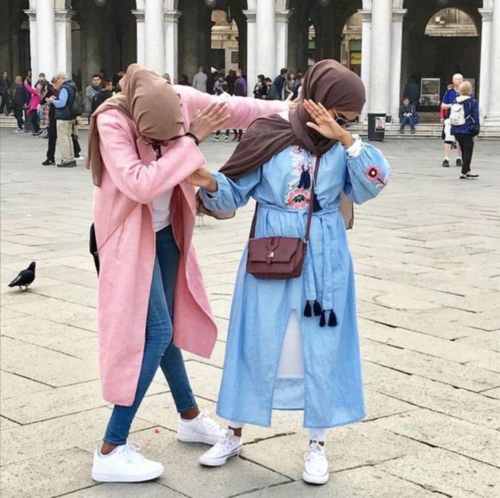 لبس الجامعة موضة 2018 للمحجبات