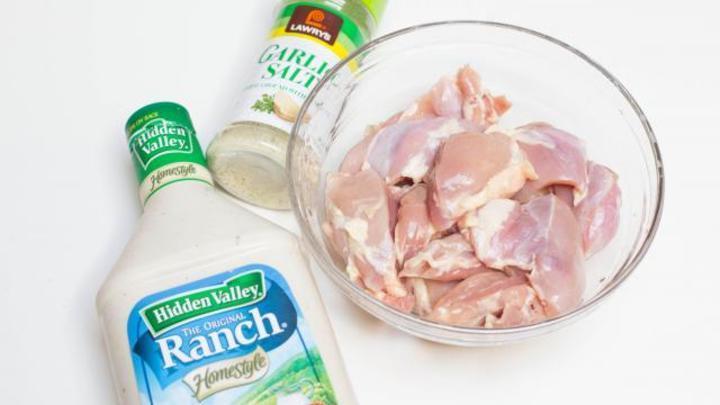 دجاج مشوي بصلصة الرانش بالصور