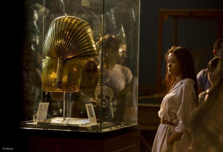 أجمل الصور لمقتنيات توت عنخ آمون تعرض لأخر مرة في لندن