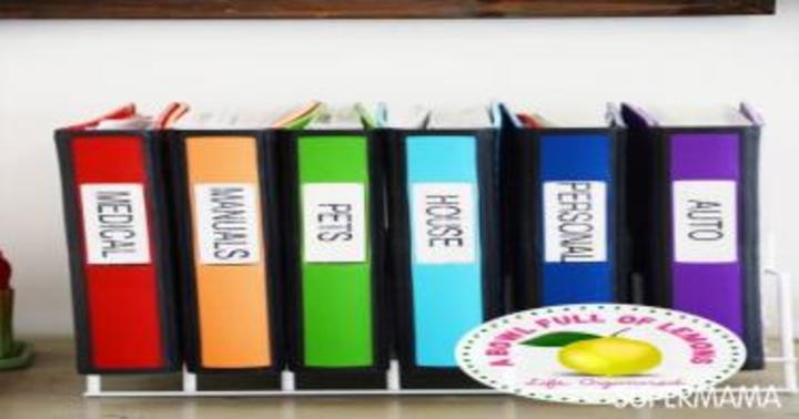 بالصور: أفكار لتنظيم الأوراق المهمة