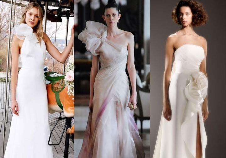 فساتين زفاف مزينة بالورود موضة 2020