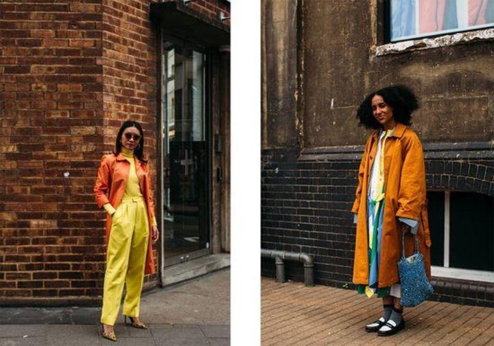 الألوان تسيطر على شوارع لندن خلال أسبوع الموضة