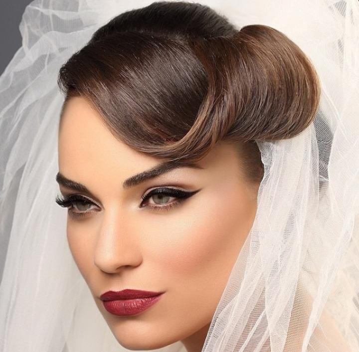 مكياج عرائسي جذاب للعروس السمراء