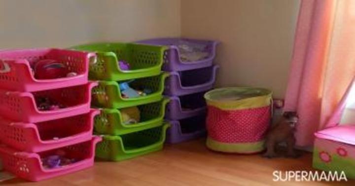 بالصور.. 6 طرق مبتكرة لتنظيم الألعاب في غرفة طفلك