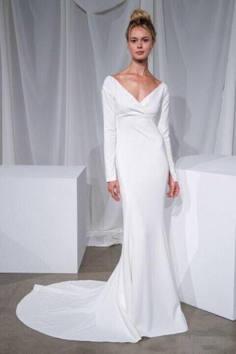 فساتين زفاف قبّة V خريف 2020