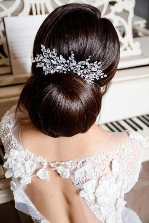 اكسسوارات شعر كريستال بارزة لعروس العيد