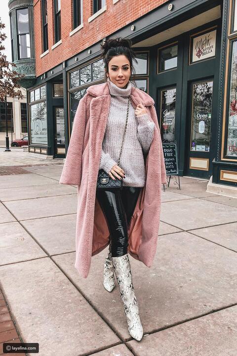 كيف ترتدي اللون الوردي في فصل الشتاء ؟