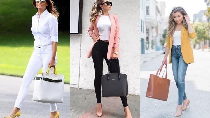 حقائب كبيرة للعمل وطرق تنسيقها مع الملابس